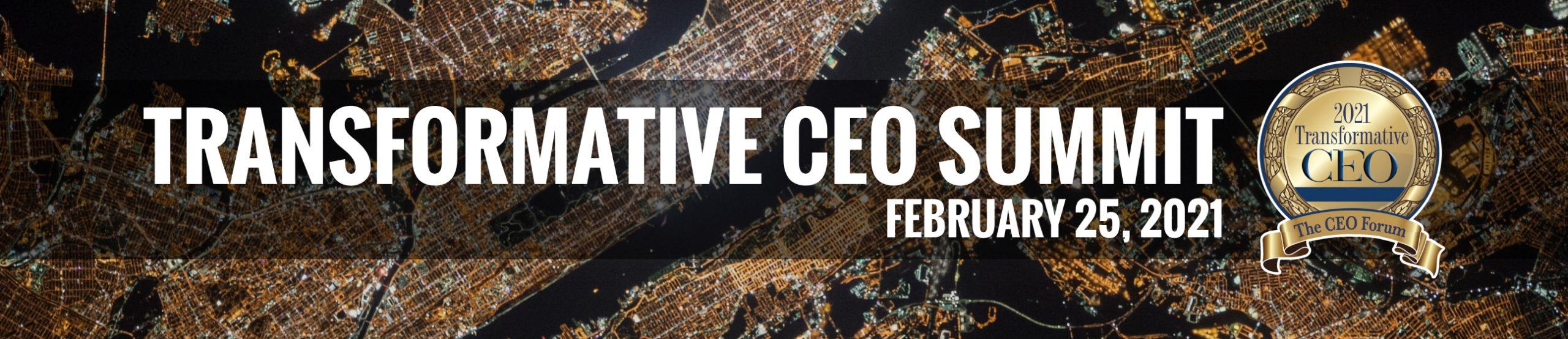 Transformative CEO Summit Banner